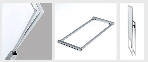 防水枠付き透明板で挟み込む