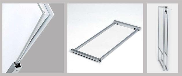 防水枠付き透明板の説明写真