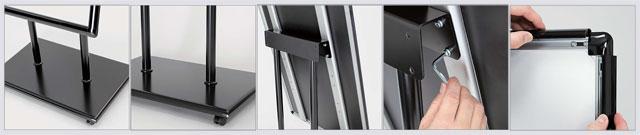 高さ調整・傾斜と直立の切り替え可能