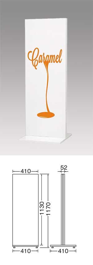 安価なホワイトカラーでシンプル、エコノミー価格のTスタンド看板