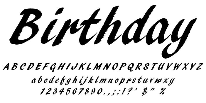 素敵なサインを造る字体